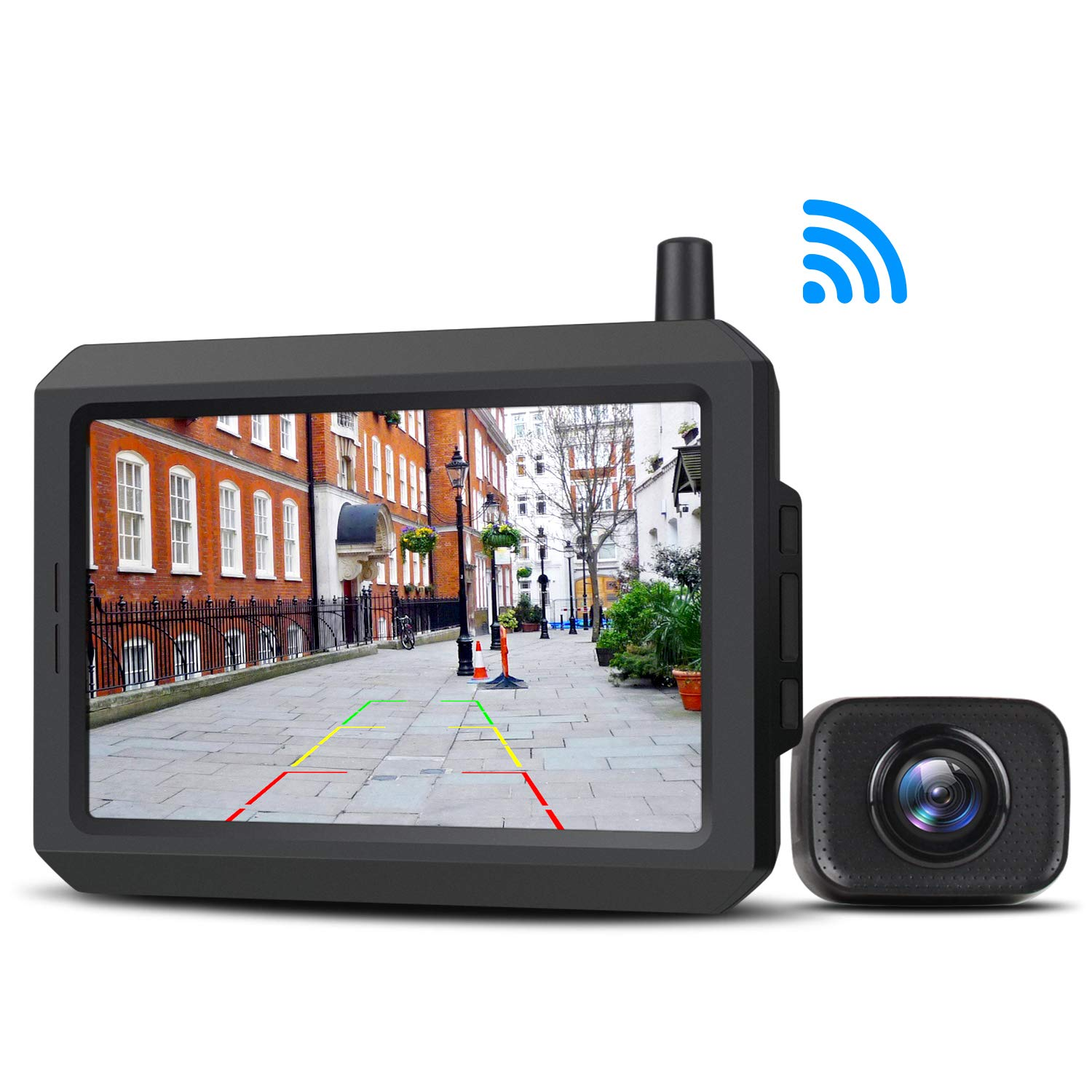 Wireless Backup Camera Kit with Digital Signal, Waterproof Rear-View Camera with 5″ TFT-LCD Monitor, Ideal for Sedans, Pickup Truck, SUV, Minivans (BOSCAM K7)