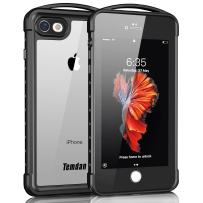 Temdan iPhone 7/8 /SE 2020 Waterproof Case, Supreme Series Waterproof Case with Carabiner Built in Screen Protector Rugged Shockproof Clear Case for iPhone 7 iPhone 8 and iPhone SE 2020(4.7 inch)