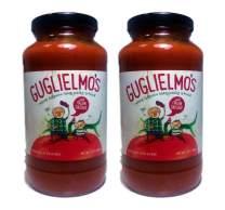 Guglielmo's Sausage Marinara Sauce (2) 24 oz Jars, Ground Italian Sausage Cooked into Marinara Fresh Ingredients - Tomatoes, Peppers, Basil, Onion, Garlic, Oregano