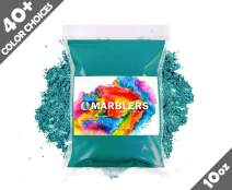 Marblers Powder Colorant 10oz (283g) [Ocean Green] | Pearlescent Pigment | Tint | Natural Mica Powder for Resin | Dye | Non-Toxic | Great for Epoxy, Soap, Nail Polish, Cosmetics and Bath Bombs