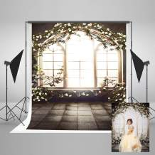 Kate 5x7ft Retro Window Photography Backdrop Floral Wall Photo Backdrop Wedding Party Decoration Background