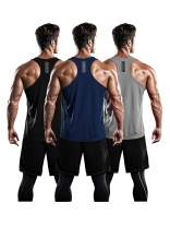 DRSKIN Men's 1~3 Pack Dry Fit Y-Back Muscle Tank Tops Mesh Sleeveless Gym Bodybuilding Training Athletic Workout Cool Shirts