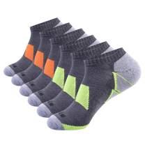 JOYNÉE Men's 6 Pack Athletic No Show Performance Comfort Cushioned Low Cut Socks