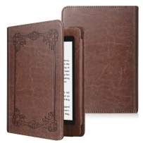 Fintie Folio Case for Kindle Paperwhite (Fits All-New 10th Generation 2018 / All Paperwhite Generations) - Book Style Vegan Leather Shockproof Cover with Auto Sleep/Wake, Vintage Brown