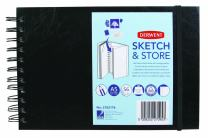 Derwent Sketch and Store Sketch Book, A5, Landscape, 8.27 x 5.83 Inches Page Size, Wirebound, 56 Pages (2102176)