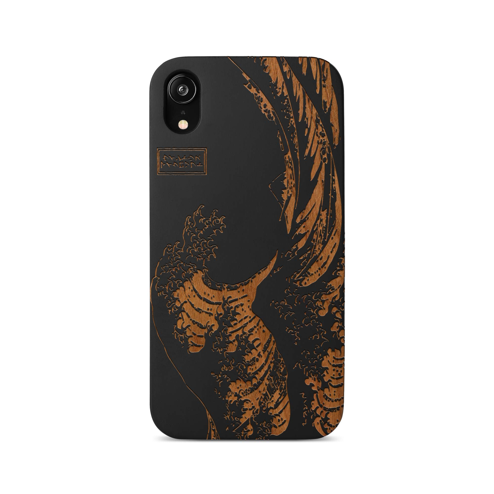 iPhone 11 Pro Case by Case Yard Fit for iPhone 11 Pro 5.8-Inch [ 2019 Release ] Shock-Absorption iPhone 11 Pro Phone Cover Wood Black iPhone 11 Pro Cases Great Wave