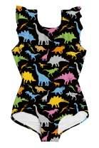 ALISISTER Toddler Little Girl Swimsuit Ruffle Bathing Suit One Piece Swimwear