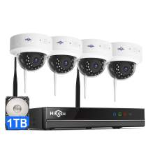 【3MP,Two Way Audio】 Hiseeu Wireless Security Camera System,1TB Hard Drive,4Pcs 3MP Cameras 8Channel NVR,Mobile&PC Remote,Outdoor IP66 Waterproof,Night Vision,Motion Alert,Plug&Play,7/24/Motion Record