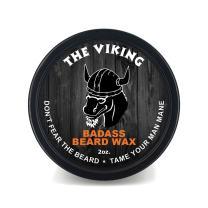 Badass Beard Care Beard Wax for Men - The Viking Scent, 2 oz - Softens Beard Hair, Leaves Your Beard Looking and Feeling More Dense