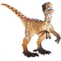 Gemini&Genius Velociraptors Jurassic World Park Dinosaurs Early Science Education and Collectible Dino Action Figures Toys as Gifts for Kids Children and Party Supplies(Yellow)
