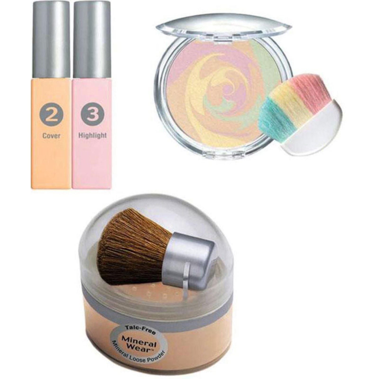 Physicians Formula Mineral Wear Makeup Kit, Medium, Loose Powder, Bronzer, Blush