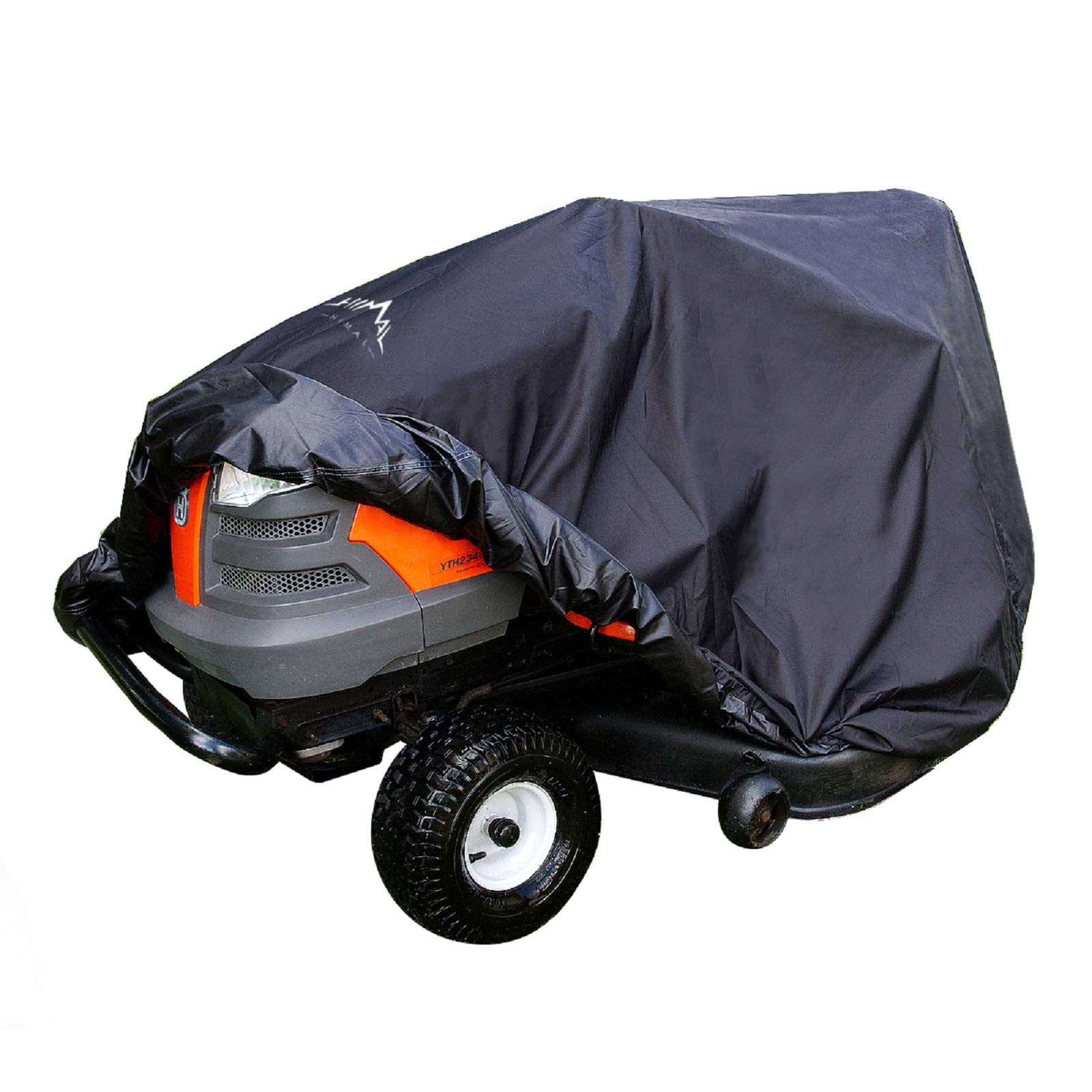 Himal Pro Lawn Mower Cover - Heavy Duty 600D Polyester Oxford, Waterproof, UV Resistant, Universal Size Tractor Cover Fits Decks up to 54'' with Storage Bag, Black