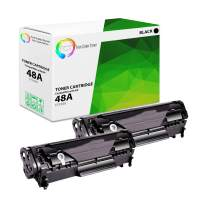 TCT Premium Compatible Toner Cartridge Replacement for HP CF248A Black Works with HP Laserjet Pro M15a M15w, MFP M28a M28w Printers (1,000 Pages) - 2 Pack