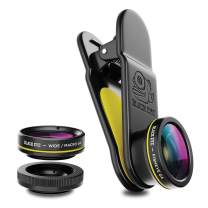 Phone Lenses by Black Eye || Clip-on Lens (3 Lenses) Compatible with iPhone, iPad, Samsung Galaxy, and All Camera Phone Models - G4CB002