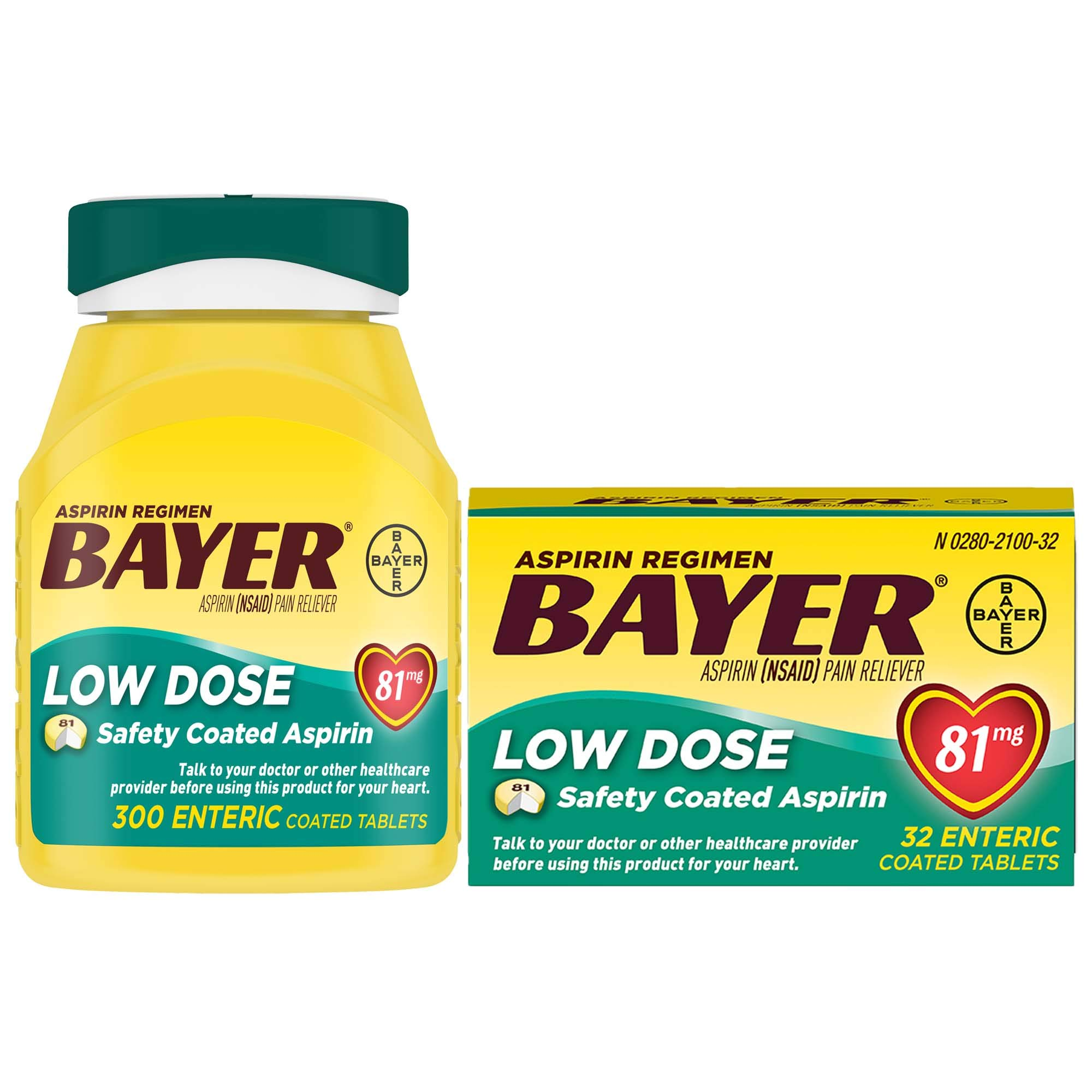 Bayer Low Dose Aspirin Home & Away Bundle 300 +32ct