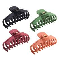 Boobeen 4 Pack Big Hair Claw - Nonslip Large Claw Clip for Women and Girls Thin Hair, Strong Hold for Thick Hair - Fashion Accessories for Women Girls
