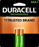 Duracell - Rechargeable AAA Batteries - long lasting, all-purpose Triple A battery for household and business - 2 count