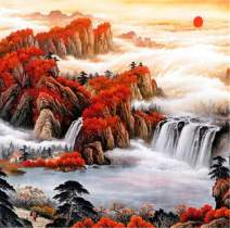 Diamond Painting Kits for Adults Waterfall by LUHSICE, 80x80cm