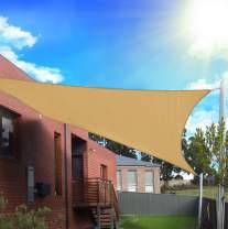 FLY HAWK SunShadeSailRectangle,10' x 13' Patio Sunshade Cover Canopy - Durable FabricCloth for Outdoor Garden Yard Pond Pergola Sandbox Deck Courtyard - Sand Color (10' x 13' Rectangle)