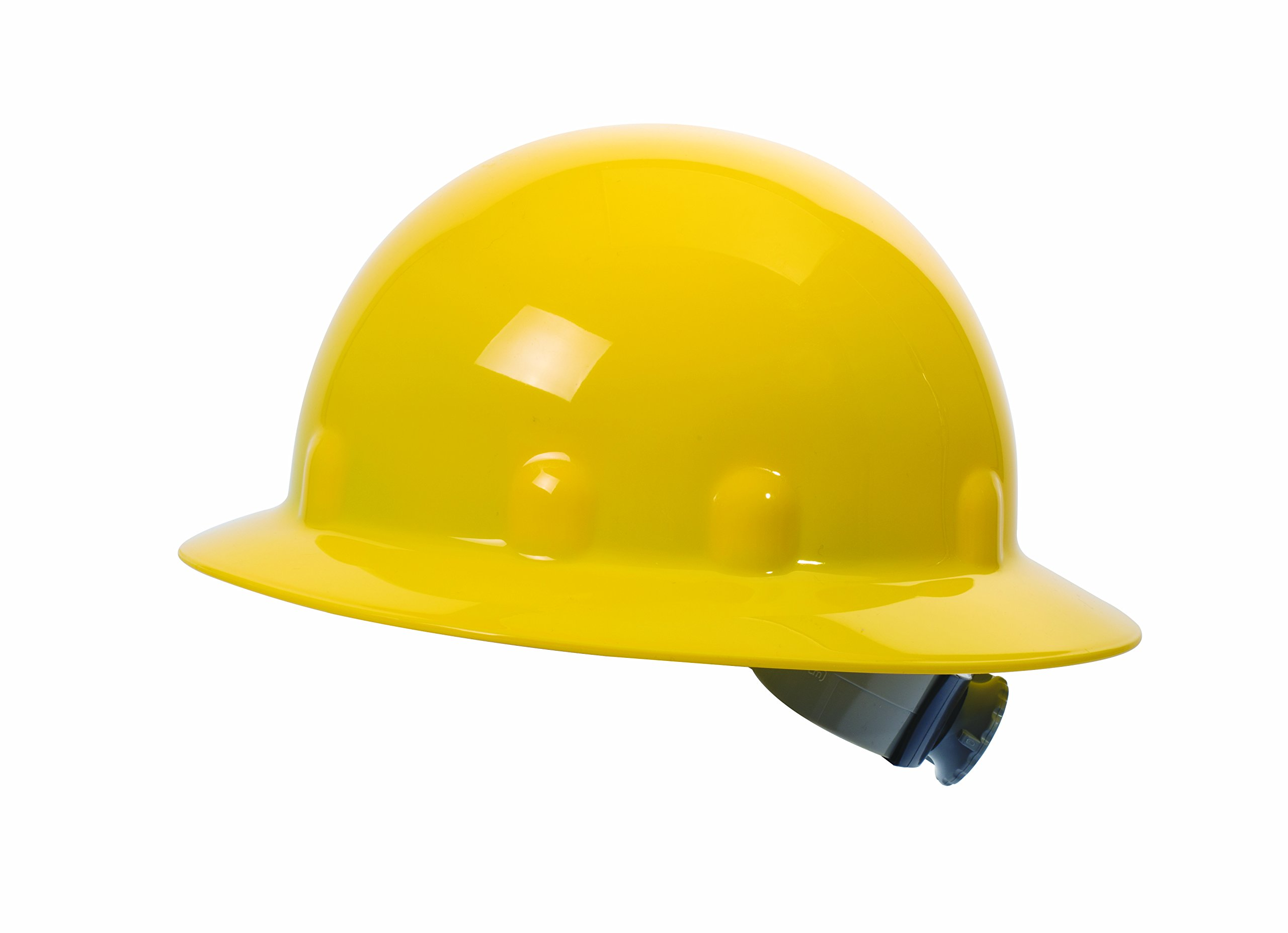 Fibre-Metal by Honeywell SuperEight Thermoplastic Full Brim Hard Hat with 8-Point Ratchet Suspension, Yellow