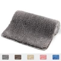 "RJUN Bathroom Rug, 31x20, Non Slip Bath Mat Water Absorbent Soft Microfiber Shaggy Bathroom Mat, Machine Washable Bath Rug, Perfect Plush Carpet Mats for Tub, Shower, and Bath Room (20""x31"", Gray)"