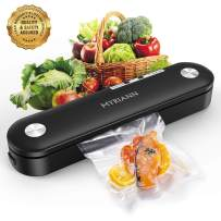 Vacuum Sealer, MYRIANN Automatic Food Sealer Machine for Food Preservation w/Starter Kit,Vacuum Air Sealing System with Compact Design/Dry & Moist Food Modes/Sous Vide Cooking (Black)
