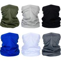 Summer Face Cover UV Protection Neck Gaiter Scarf Sunscreen Breathable Bandana