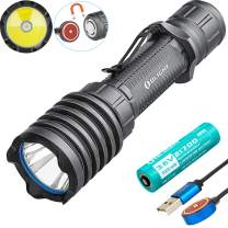 SKYBEN Olight Warrior X Pro 2250 Lumen NW LED 600 Meter Throw Tail Switch Magnetic Rechargeable Tactical Flashlight,21700 Battery Battery Box Included (Limited Edition Gunmental Grey)