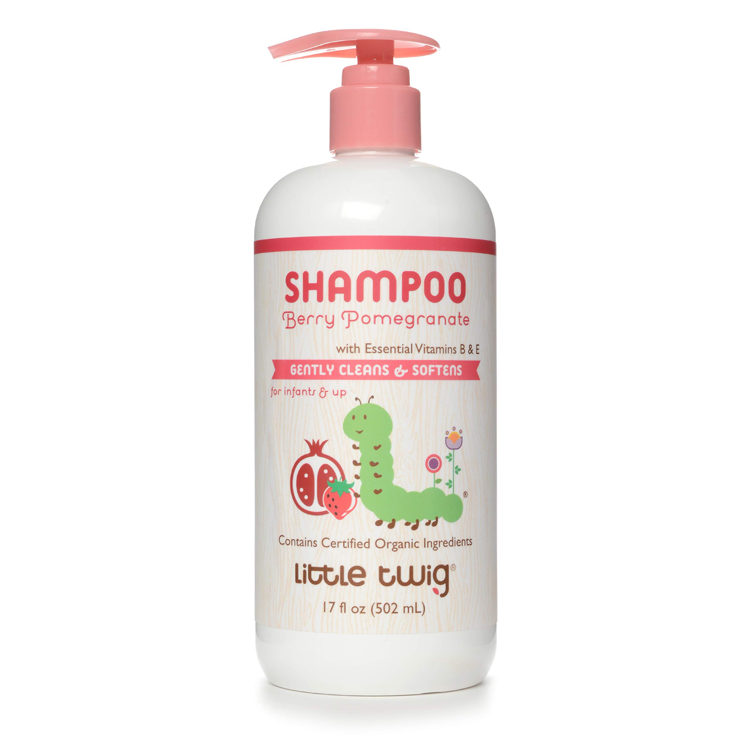 Little Twig All Natural Baby Shampoo Berry Pomegranate, Berry, 17 Ounce