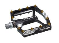 Funn Python Flat Mountain Bike Pedal Set - Wide Platform BMX Bicycle Pedals, 9/16-inch CrMo Axle