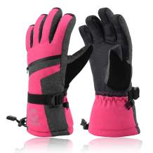 Gonex Ski Gloves for Men Women Teen Boys Girsl Youth, -30℉ Waterproof Touchscreen 3M Thinsulate Snowmobile Winter Snow Gloves