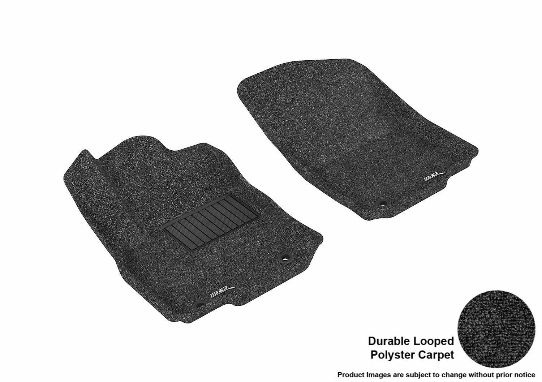 Coverking Custom Fit Front Floor Mats for Select Chevrolet Models Nylon Carpet Black