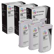 LD Remanufactured Ink Cartridge Replacement for HP 72 C9370A High Yield (Photo Black, 3-Pack)