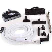 GV Central Vacuum kit with Power Head 35 Foot Hose and Tools Designed for Beam Electrolux Nutone Hayden fits All Brands Black Head