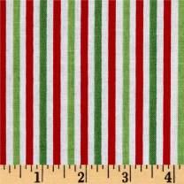 Riley Blake Designs 0542273 Riley Blake 1/8in Stripe Christmas Fabric by the Yard