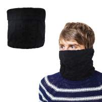 Winter Knitted Neck Gaiter with Fleece Lined for Cold weather