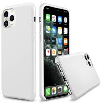 """AnsTOP iPhone 11 Pro Case, Anti-Slip Liquid Silicone Gel Rubber Cases with Soft Microfiber Cushion Slim Hard Shell Shockproof Protective Case Cover for iPhone 11 Pro 5.8"""" (2019 Released) - White"""