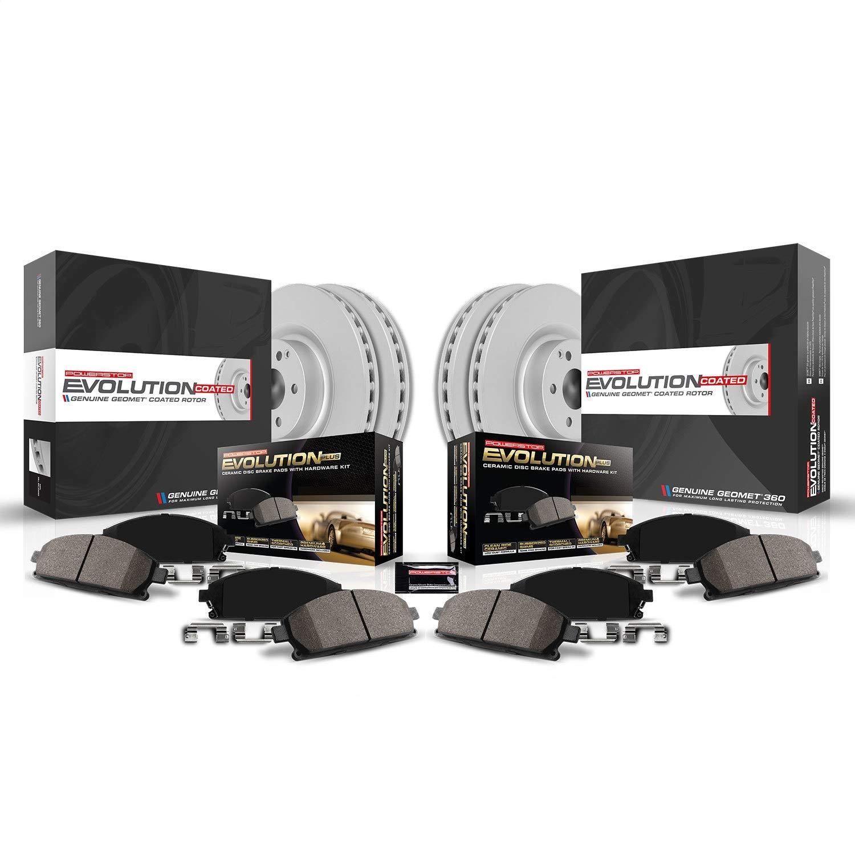 Power Stop CRK6480 front and rear Z17 Evolution Geomet Coated Brake Kit