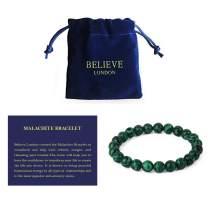 Believe London New Gemstone Healing Chakra Bracelet Anxiety Crystal Natural Stone Men Women Stress Relief Reiki Yoga Diffuser Semi Precious