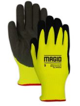 Magid Glove & Safety PPD54010 PPD540 Nitrix Coated Padded Palm Work Glove – Cut Level A6, Black, Size 10, HPPE
