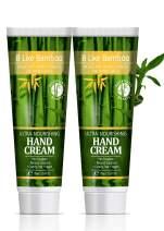 B Like Bamboo Ultra Nourishing 20% Shea Butter Hand Cream with Argan Oil | Natural Moisturizing Hand Lotion Dry Sensitive Skin | Ultra Rich | Nourishing | Repairing | Soothing| Value Pack 2 x 2.5 oz