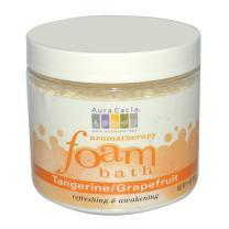 Aromatherapy Foam Bath Refreshing Tangerine & Grapefruit Aura Cacia 14 oz Powder
