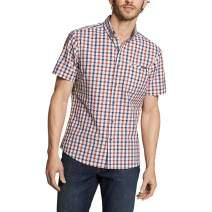 Eddie Bauer Men's Bainbridge Short-Sleeve Seersucker Shirt, Dusted Indigo Tall X