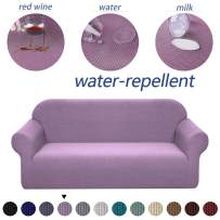 Granbest Premium Water Repellent Sofa Cover High Stretch Couch Slipcover Super Soft Fabric Couch Cover (Light Purple, Loveseat)