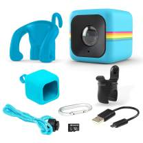 Polaroid Lifestyle Cube ACT Two HD 1080p Waterproof Action & Underwater Wide Angle Sports Video Mini Camera Bundle - Blue, AMZPOLCUBELSBL