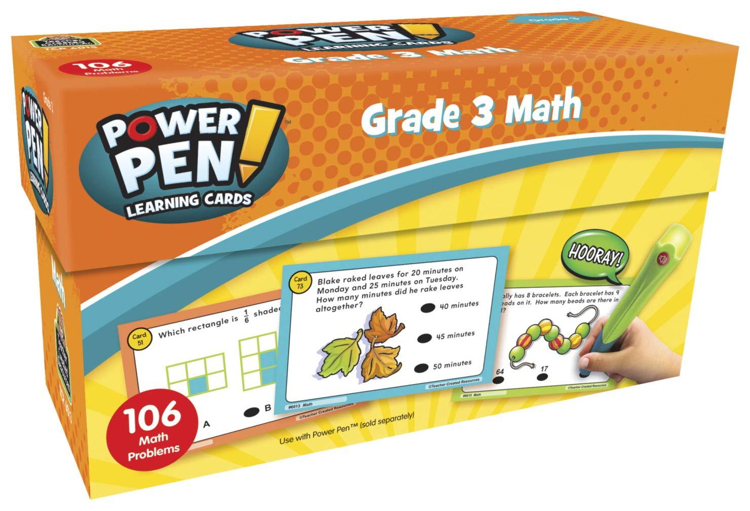 Teacher Created Resources Power Pen Learning Cards: Math (Gr. 3)