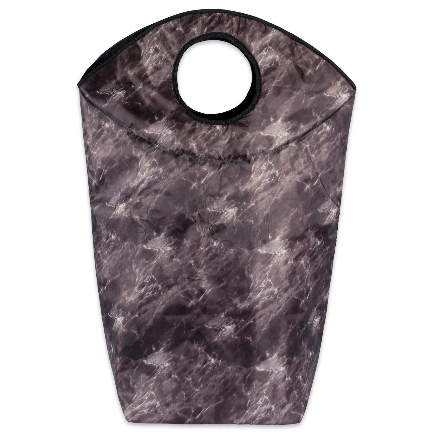 DII Collapsible Heavy Duty Fabric Laundry Hamper or Bag Perfect In Your Bedroom, Nursey, Dorm, Closet, Laundry Room, and Home Organization - Black Marble