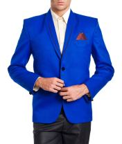 WINTAGE Men's Polyester Cotton Two Button Party Blazer- Two Colors