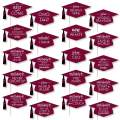 Big Dot of Happiness Hilarious Maroon Grad - Best is Yet to Come - Burgundy Graduation Party Photo Booth Props Kit - 20 Count