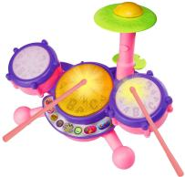 VTech KidiBeats Drum Set, Pink, Great Gift For Kids, Toddlers, Toy for Boys and Girls, Ages 2, 3, 4, 5